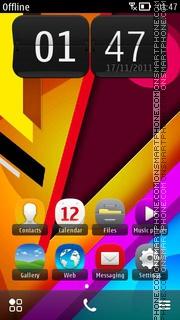 Colorful Design es el tema de pantalla