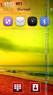 Colorful Sea Shore theme screenshot
