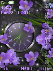 Скриншот темы Flower