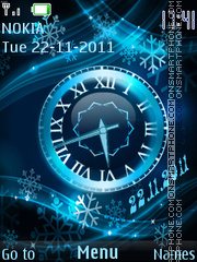 Winter clocks theme screenshot