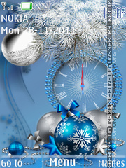 Blue new year theme screenshot