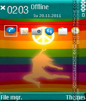 Reaching Peace theme screenshot