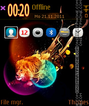 Lion 34 theme screenshot