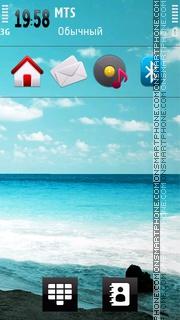 Nature Sea 01 theme screenshot