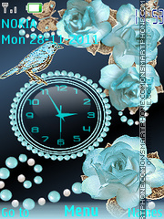 Blue roses theme screenshot
