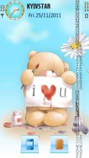 Bear in love! tema screenshot