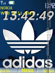 Adidas Clock theme screenshot
