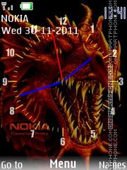 Dragon Clock es el tema de pantalla