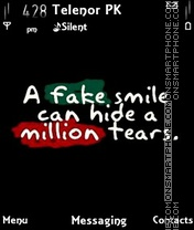 Fake smile theme screenshot