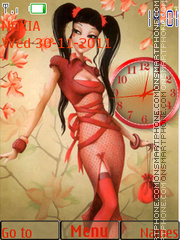 Girl in red theme screenshot
