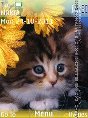 Animated Kitten 01 theme screenshot