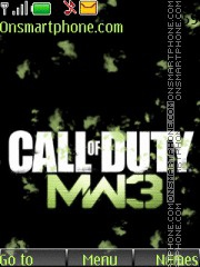 Call Of Duty Mw3 01 es el tema de pantalla