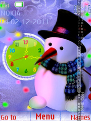 Snowman theme screenshot