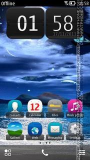 Скриншот темы Blue Night Theme