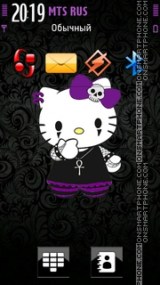 Goth Kitty theme screenshot