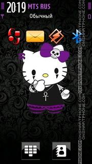 Goth Kitty es el tema de pantalla