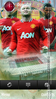 Manchester united trio tema screenshot