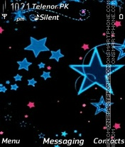 Blue stars tema screenshot