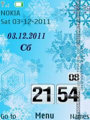 Скриншот темы Snowflakes Clock