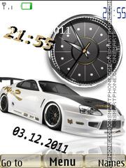 Toyota Supra Clock theme screenshot