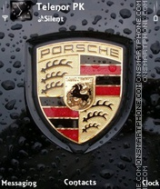 Porsche Emblem theme screenshot