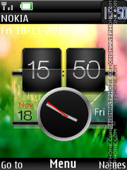 Fresh Htc Dual Clock 01 theme screenshot