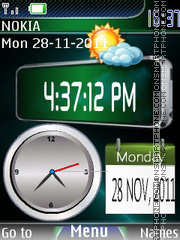 Dual Clock 04 theme screenshot