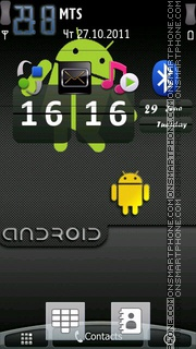 S60 Android For Nokia theme screenshot