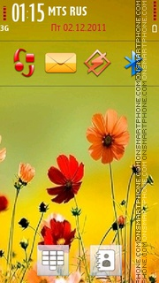 Cute Flowers 04 theme screenshot