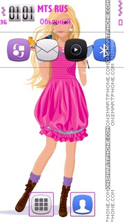 Sweet Barbie Friend theme screenshot