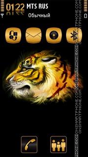 Golden Tiger 01 theme screenshot