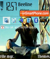 Avril 01 theme screenshot