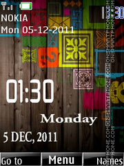 Digital Date Clock 01 theme screenshot