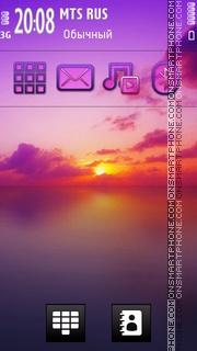 Colorful Sunset theme screenshot