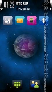 Скриншот темы Galacta Ovi