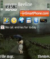 The Rain 01 theme screenshot