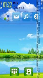 Скриншот темы Green Nature Lake