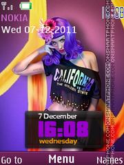 Katy Perry Clock theme screenshot