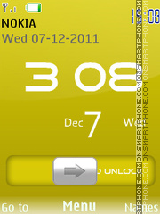 Iphone 5 Yellow theme screenshot