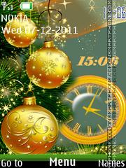 Скриншот темы Xmas Clock 02