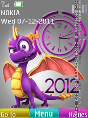 Clock 2012 theme screenshot