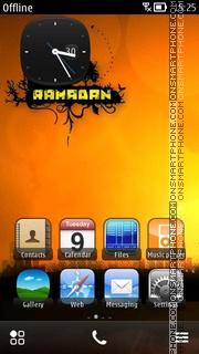 Ramadan Sunset theme screenshot