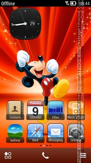 Happy Mickey theme screenshot