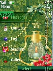 Christmas Light CLK tema screenshot