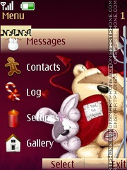 Fzzy Moon Christmas CLK theme screenshot