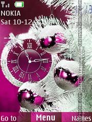 Скриншот темы New year in pink