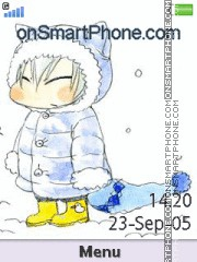 Gin Ichimaru (chibi) theme screenshot