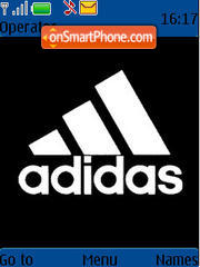 Adidas Black Original theme screenshot