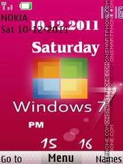 Windows 7 Clock 02 theme screenshot