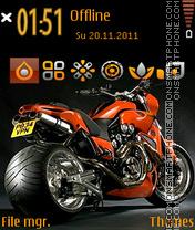 Скриншот темы Street monster bike
